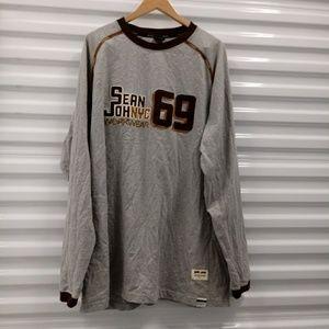 Sean John Workwear NYC Long Sleeve Tee Shirt XXL